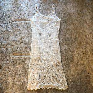 NWT H&M White Crochet Dress Sz L